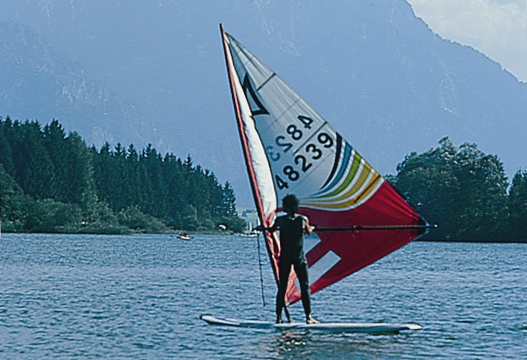 Windsurfen am Forggensee
